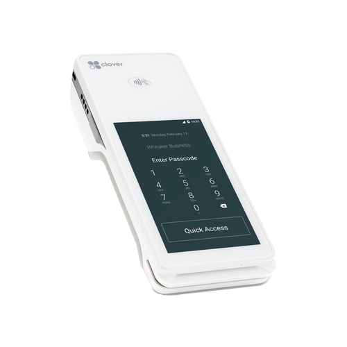 Clover Flex payment terminal login screen